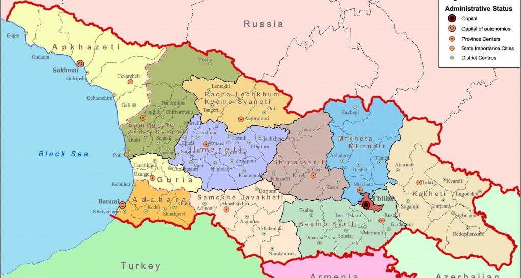 MAP of GEORGIA | SAKARTVELO | TourismGeo.com