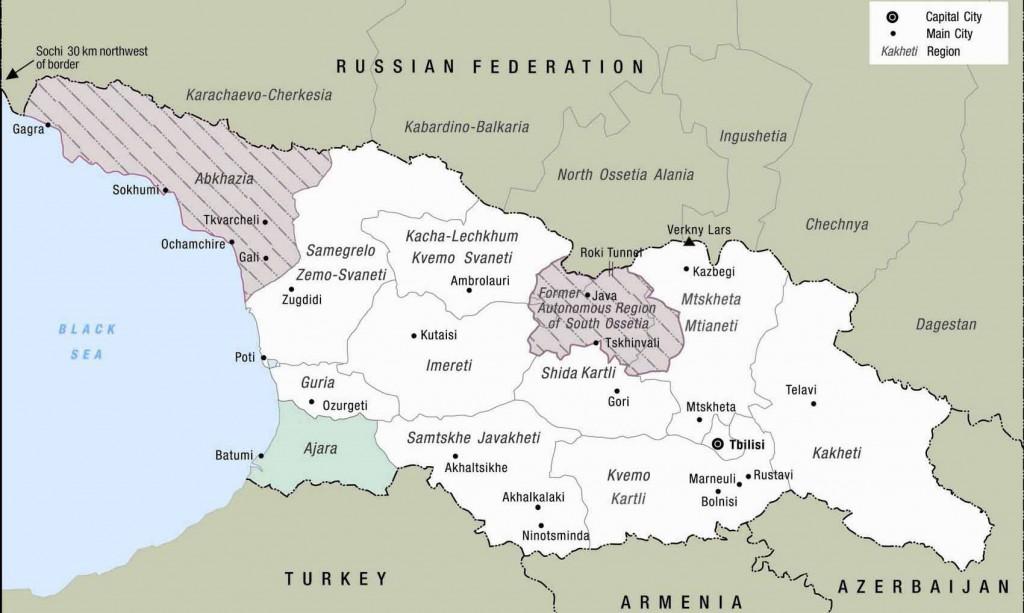 MAP of GEORGIA | SAKARTVELO